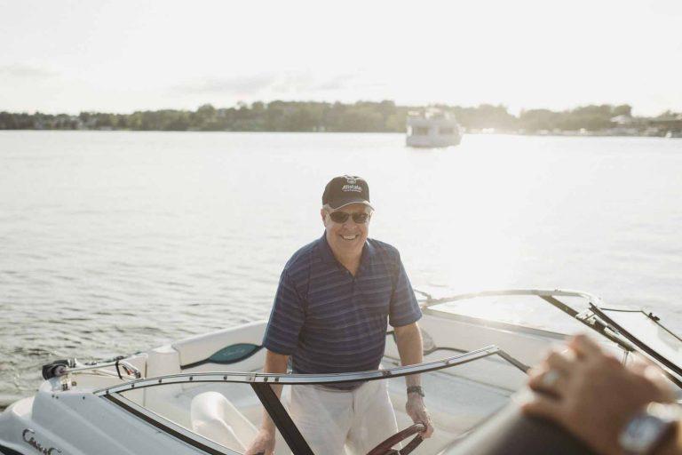Jim Harper on Boat
